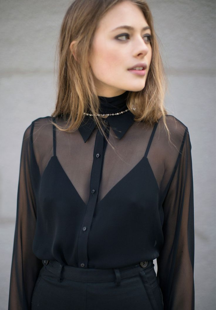 David Michael Sheer Black Femme Blouse & Pamela Love Rosebud Dagger Rosary
