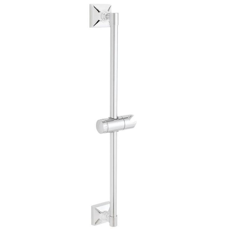 Speakman SA-1302 Rainier 23.75 Inch Traditional Shower Slide Bar Polished Chrome Shower Accessories Slide Bars