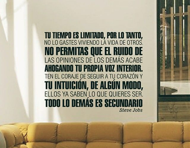 Vinilos decorativos con citas y frases de steve jobs 03108 pinterest steve jobs and frases - Decoraciones de pared ...