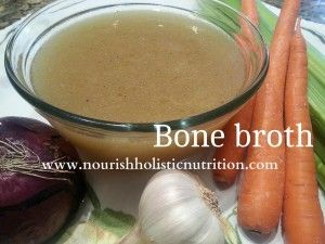 Bone Broth - this is one of the best foods to eat before and after surgery. See more of my tips on what to eat before surgery here: http://nourishholisticnutrition.com/healthy-eating-before-after-surgery/