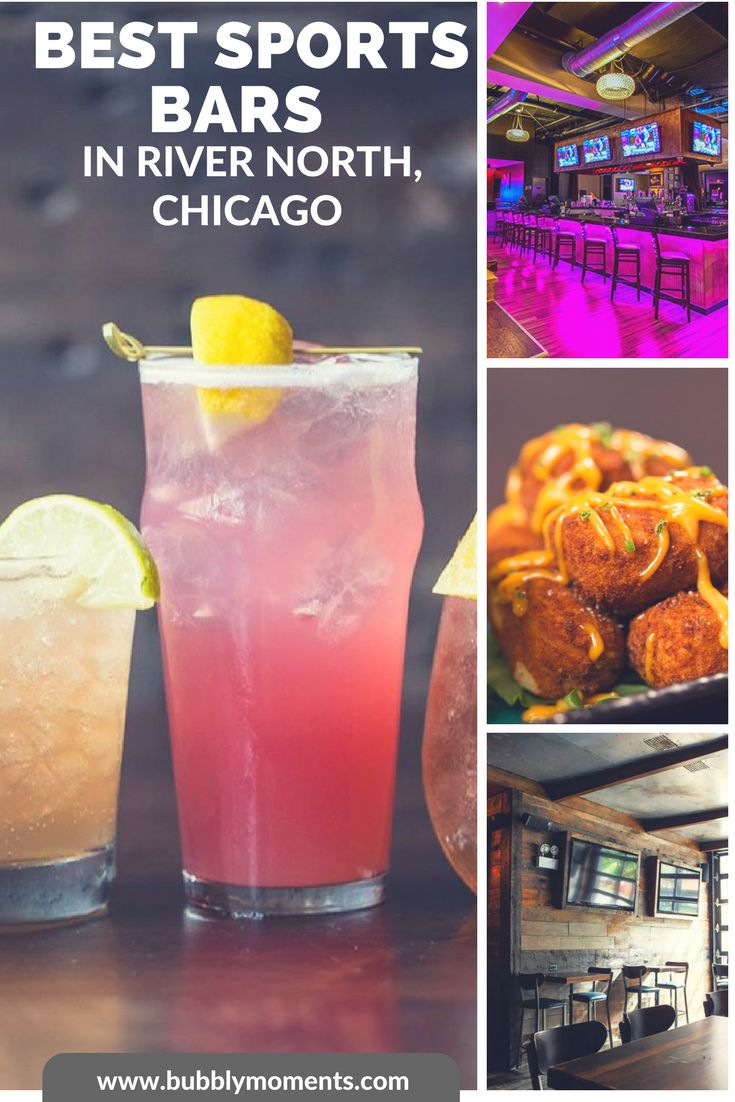 If you are a sports lover, you would enjoy some of those sports bars in River North, Chicago. Indulge in awesome food and drink choices! I Best Sports Bars in River North   Chicago   Chitown   Windy City   Entertainment   Bar   Bubbly Moments