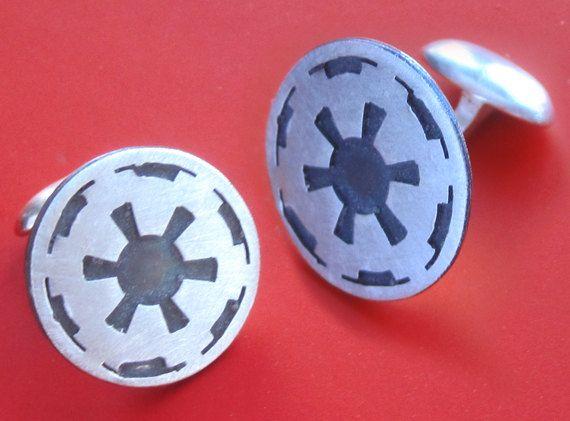 Star Wars Imperial Insignia cufflinks.: Silver Stars, Stars War, Star Wars, War Imperial