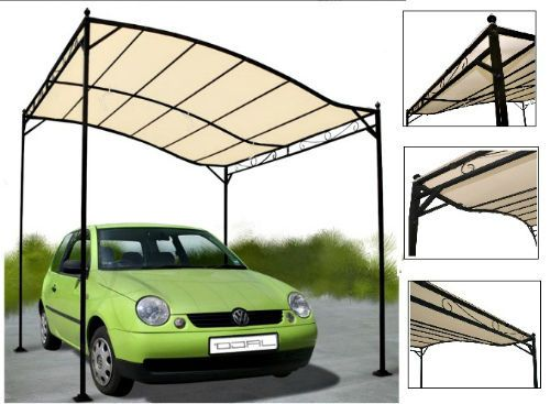 Metal Garden Sloped Awning Tent Patio Canopy Sun Shade Waterproof Gazebo Beige #Miadomodo