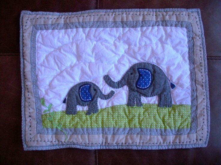 Pottery Barn Kids Brook Elephant Small Nursery Sham *read*