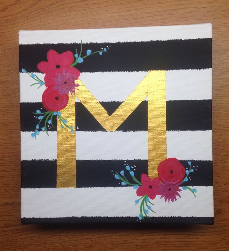 Kate Spade inspired initial canvas - perfect sorority gift
