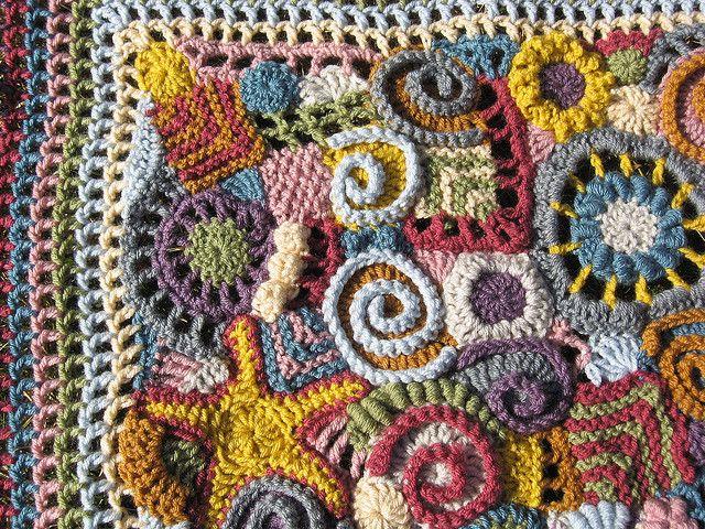 "freeform crochet baby blanket SOOO COOL!!!! Make with little bits of ""leftover"" yarn"