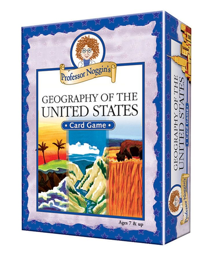 Take a look at this Professor Noggin's Geography of the United States Card Game today!