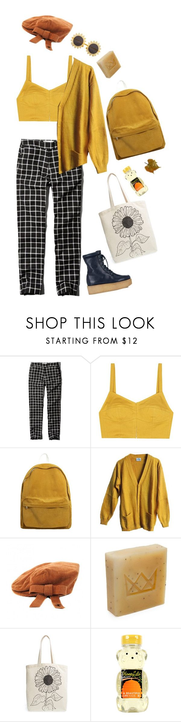 """""""Untitled #2532"""" by momoheart ❤ liked on Polyvore featuring Abercrombie & Fitch, Isa Arfen, H&M, Chanel, Flynn&King, Tri-coastal Design and Gabriela Hearst"""
