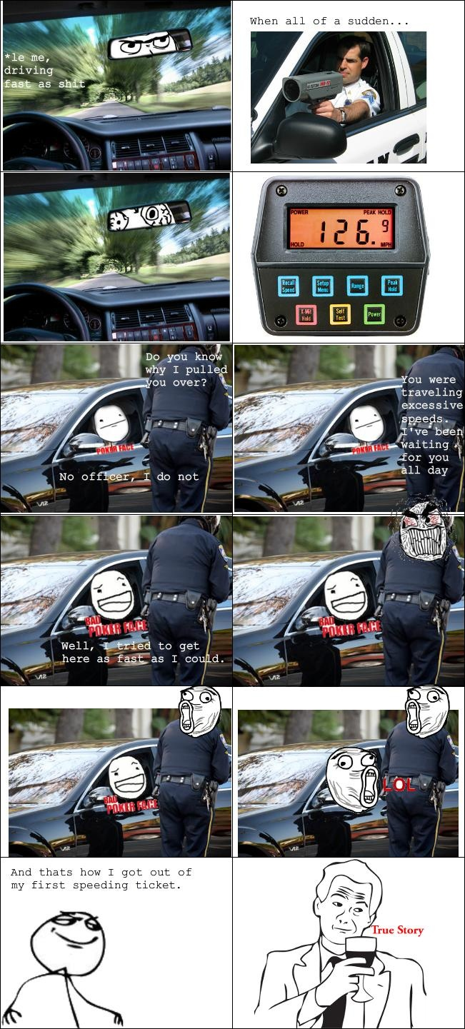 Rage Comics: This is how I got out of my first speeding ticket
