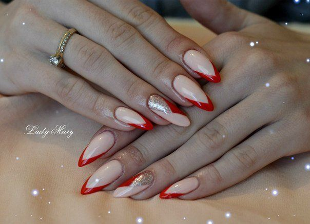 Beautiful nails 2016, Bright french manicure, Brilliant polish nails, Color french manicure, Exquisite nails, Fashion nails 2016, French manicure ideas…
