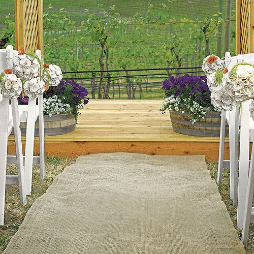 Burlap Wedding Aisle Runner Rustic Weddings | Candy Cake Weddings