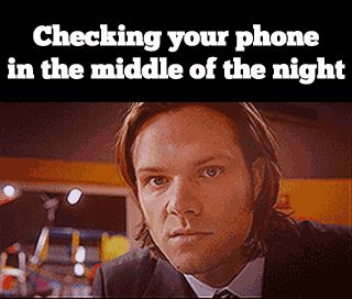 Checking your phone at night-- GIF-- WATCH THIS I JUST SNORTED DIET SPRITE EVERYWHERE