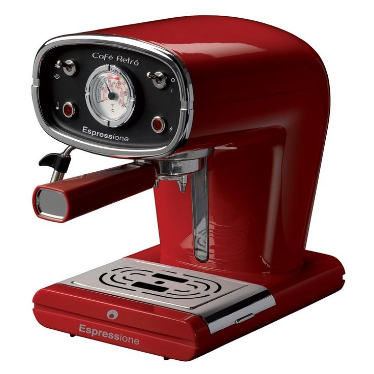 Café Retro Espresso Maker Red Espresso machine, Espresso