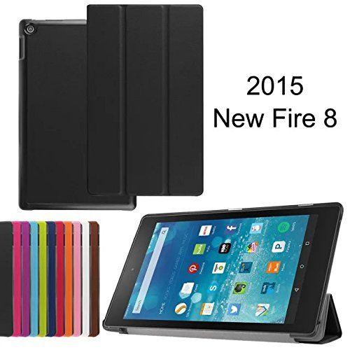 XINDA Tri-Fold Housse étui en cuir avec support pour Amazon Kindle Fire 17,8cm 17,8cm (2015Edition): Caractéristiques: L'étui convient…