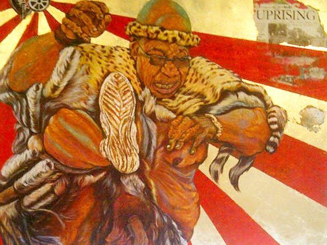ayanda mabulu.....new zuma penis painting hung in cape town