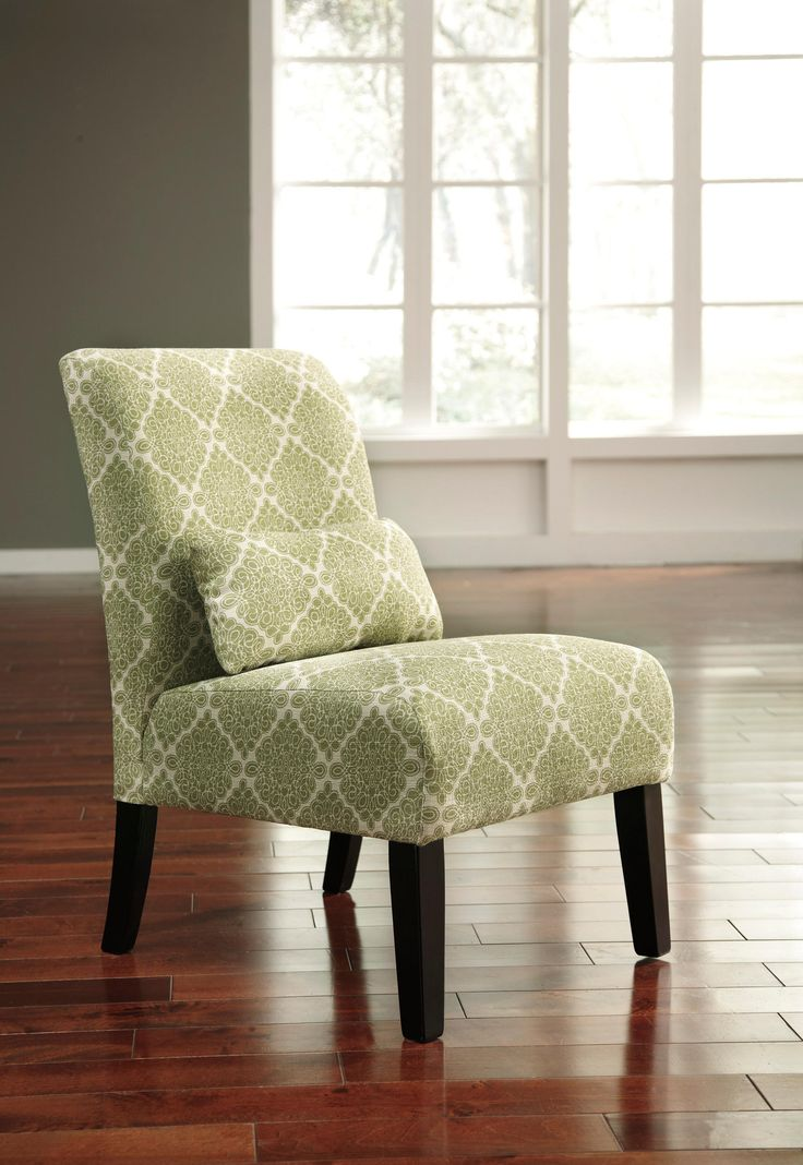 The Green Annora Armless Accent Chair Puts On Fresh Fabrics And Clean Lined Form Chic Streamlined Its Just Enough Furniture To Complete Your