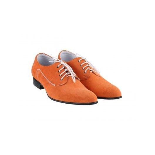 Pánske kožené extravagantné topánky oranžové PT031 - manozo.hu