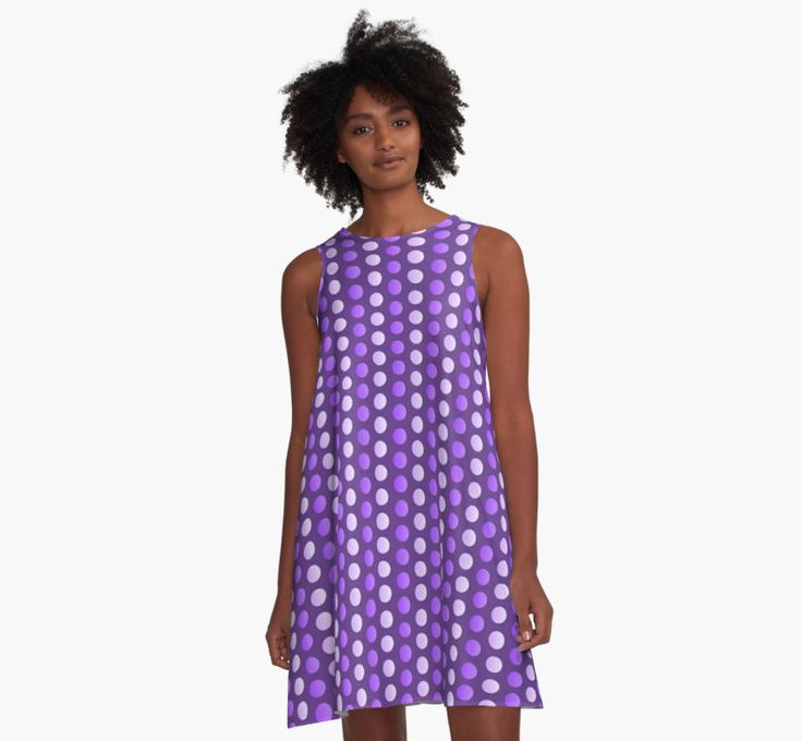 Two tone polka dot pattern, purple circles, dots no.2 • Also buy this artwork on apparel, stickers, phone cases, and more.