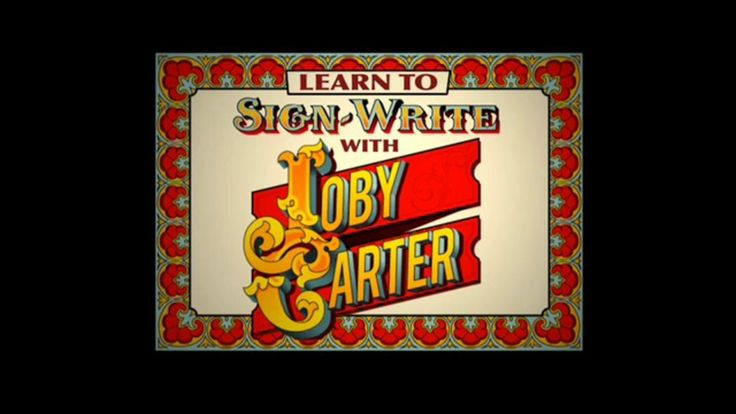 Learn to all there is to know about Joby Carter's sign writing course. Get out there and paint signs !