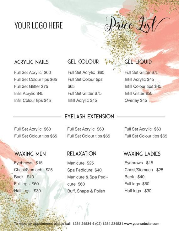 Edit Able Price Guide Pricing List Template Specials Etsy In 2020 Photography Price List Price List Template Photoshop Price