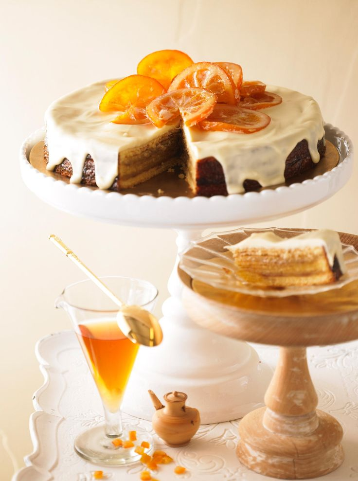 So lecker: Orangen-Baumkuchen-Torte