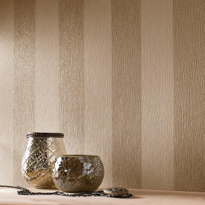Glitterati Wallpaper in Cream and Gold by Julien MacDonald for Graham & Brown