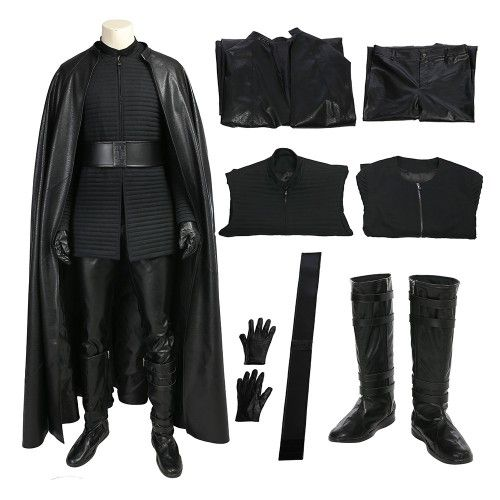 Star Wars 8 The Last Jedi Kylo Ren Outfits Cosplay Costume Deluxe Version Kylo Ren Outfit Star Wars Outfits Cosplay Outfits