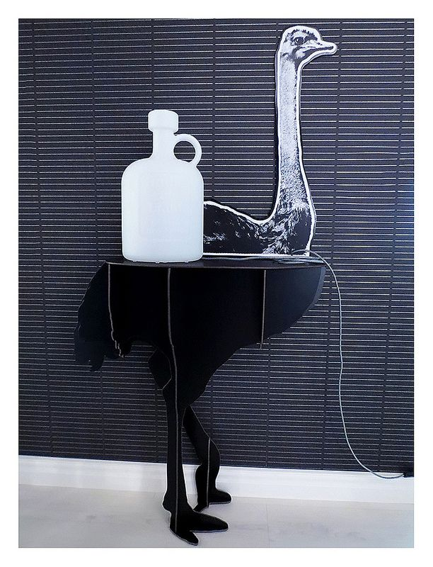 Ibride Diva console and Bottle of Light from Eero Aarnio.