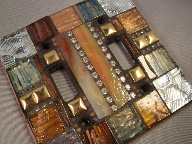 MOSAIC LIGHT SWITCH - Double Switch Plate Cover. $19.75, via Etsy.
