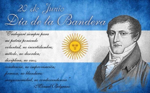 Imágenes Y Frases Bonitas De Belgrano Y La Bandera Argentina Día De La Bandera Bandera Nacional Argentina Imagenes De Bandera Argentina