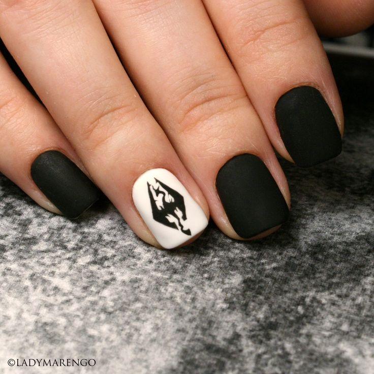 #geeknails #ladymarengo #шеллак #гельлак #нейларт #ногти #маникюр #дизайнногтей #nailart #naildesign #nails  #skyrim #bethesda #tes #theelderscrolls #скайрим