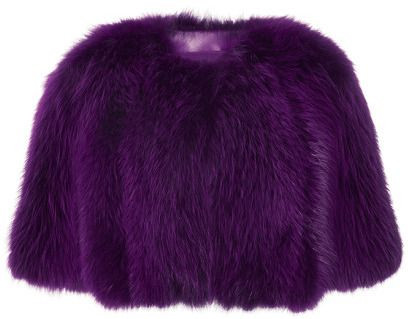 Elie Saab Amethyst Fox Fur Bolero Amethyst on shopstyle.com