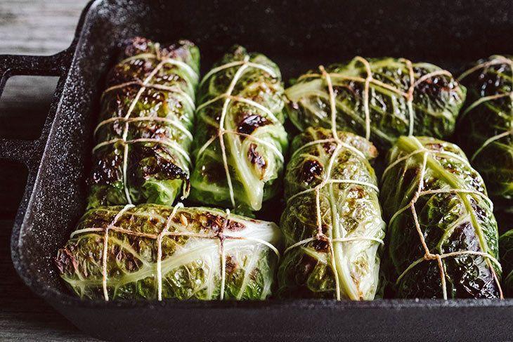 Kohlrouladen Rezept: Vegan mit Linsen
