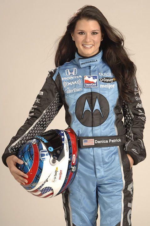 Danica Patrick when she drove in the IRL for Andretti Green Racing.