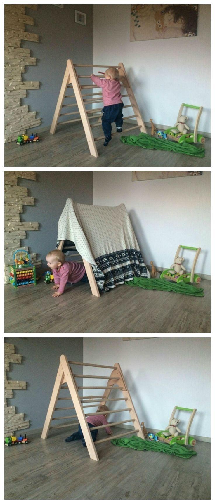 Kletterdreieck von Emmi Pikler entwickelt, Spielgerät für Kinder / wooden climbing gym for kids made by KlapperSpecht via DaWanda.com