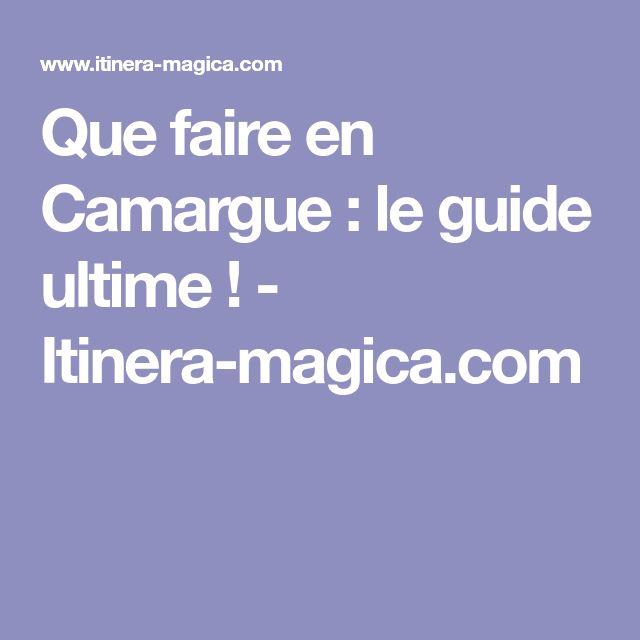 Que faire en Camargue : le guide ultime ! - Itinera-magica.com