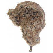 Barbour Mens Fur Hunter Trapper Hat in Brown