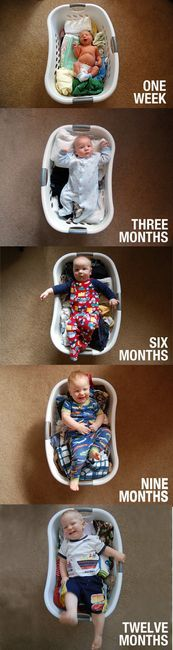 7 Clever Ways to Capture Your Growing Baby!: Remember This, Photo Ideas, Cute Ideas, Growth Charts, Photo Projects, Projects Ideas, Baby Pictures, Laundry Baskets, Baby Photo