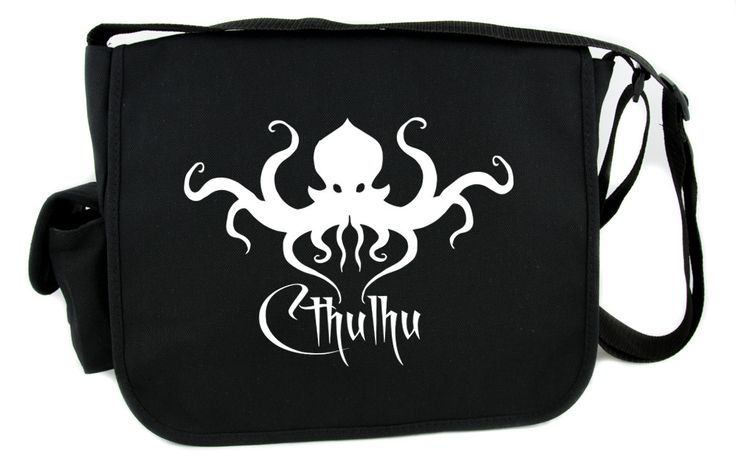 H.P. Lovecraft Cthulhu Creature Messenger Bag Cross Body Gothic Horror Clothing  #occult #cosplay #baseballcap #wallet #applique