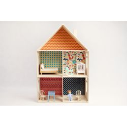 Wooden doll house - Pattern B