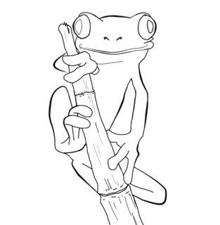 tree frog coloring pages miakenas