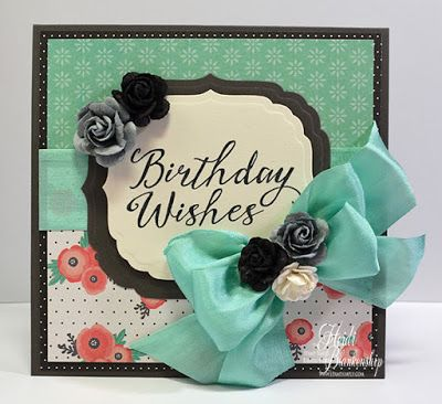 The Stamp Simply Ribbon Store - Pebbles Cottage Living - Birthday Wishes Card