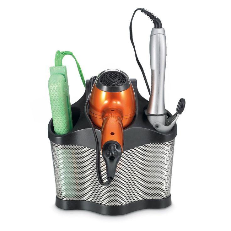 Curling Iron Hair Style Station Hair Dryer Holder Salon Bathroom Organizer *NEW*