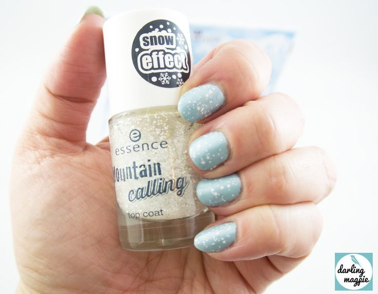 Essence Mountain Calling Collection - Snow Alert Top Coat swatch