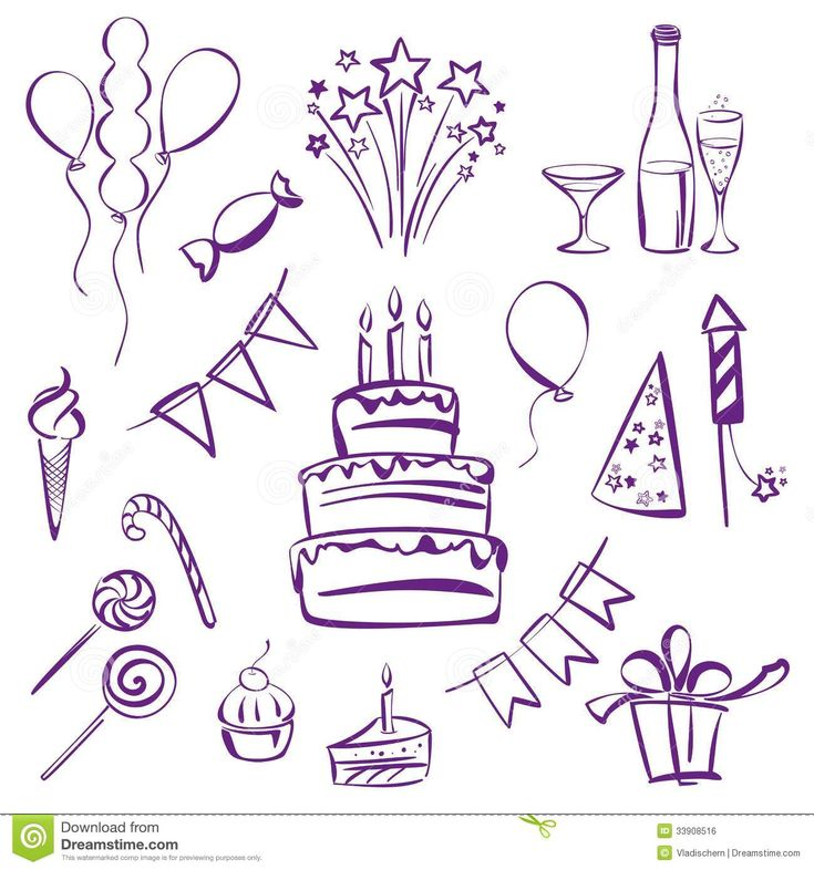 birthday party theme clipart vector to draw - Google