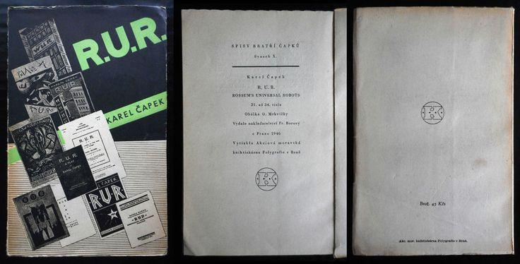 czech avant-garde Karel Capek 1946 R.U.R. Rossum´s Universal Robots