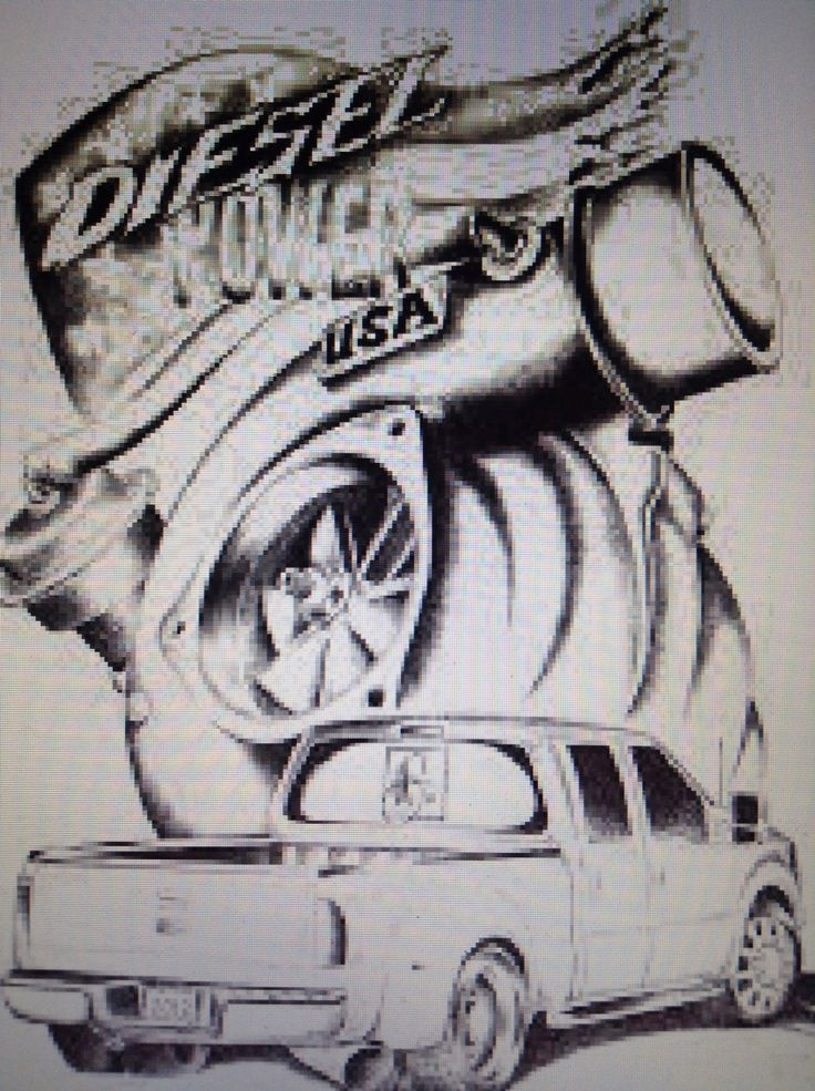 Diesel Power Usa Tattoo Or Drawling With Ford Dually F 450