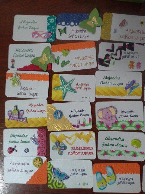 Modelos tarjetas niña para marcar regalos.