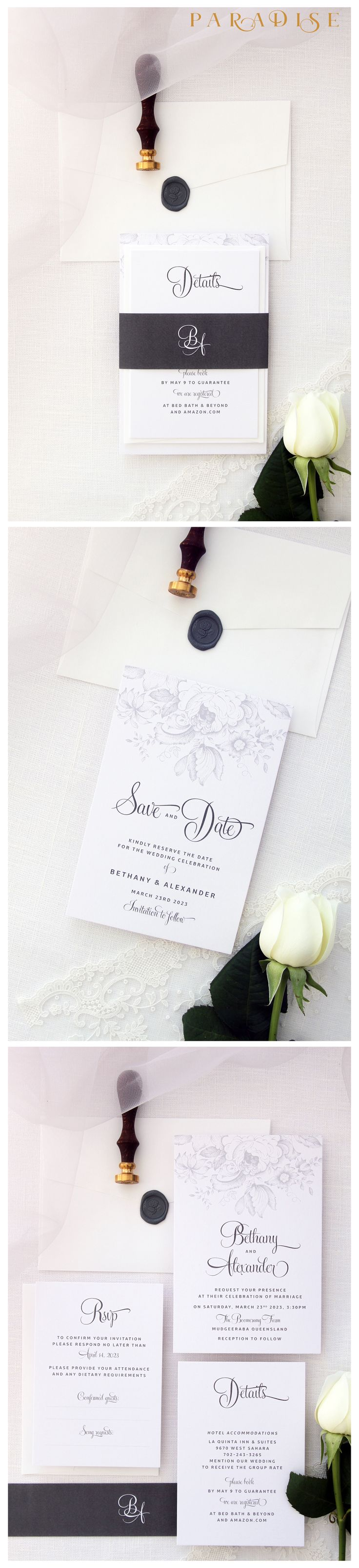 60 best Wedding Invitation Sets images on Pinterest
