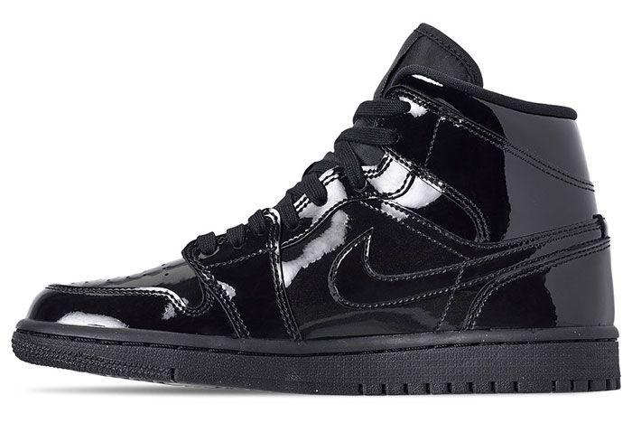 703482e9c7 The Air Jordan 1 Drops in Triple Black Patent Leather | Man Shoes ...
